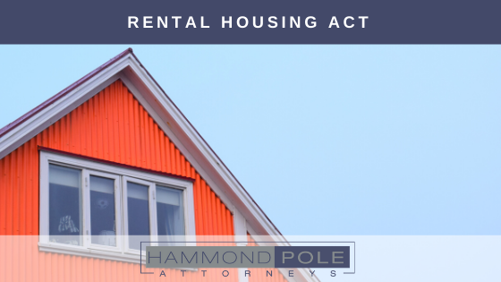 Hammond Pole Attorneys Rental Housing Act