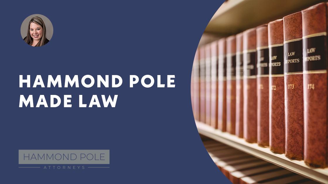 hammond pole made law